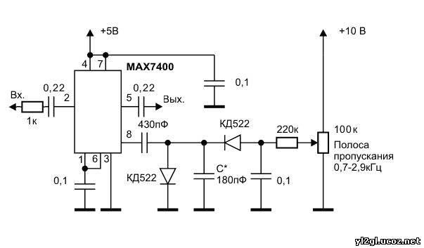 Установил платку подчисточного фильтра с регулируемой полосой пропускания на MAX7400, вместо переключаемых активных...