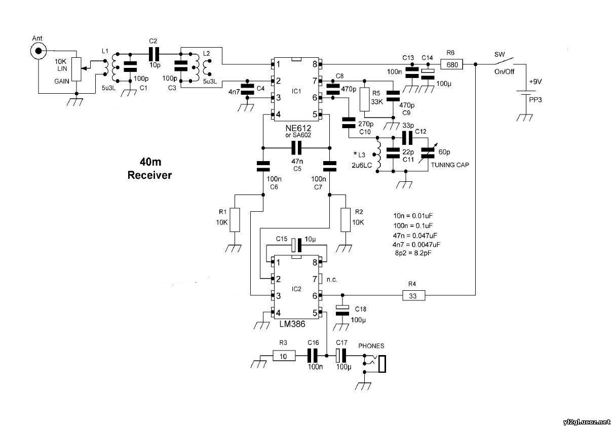 Схемы простых кв приемников на микросхемах